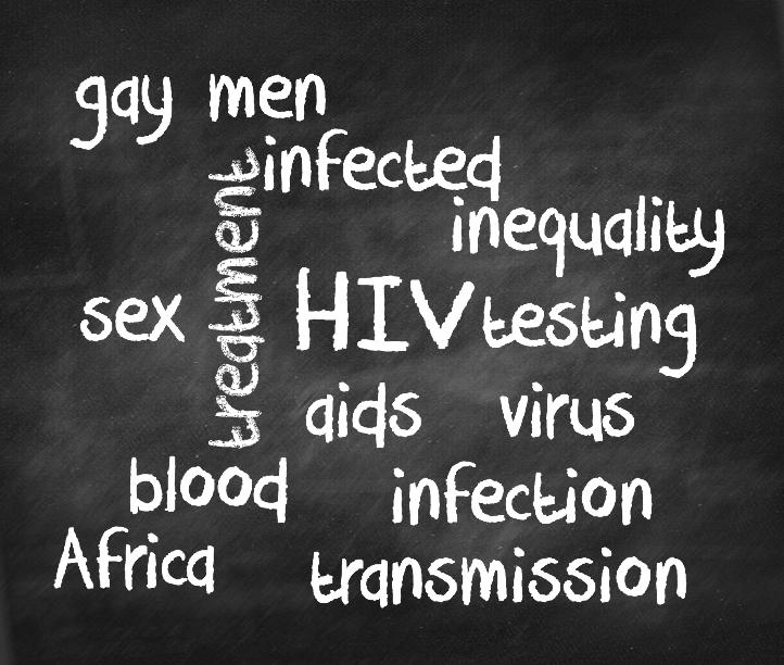 HIV chalkboard