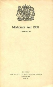 Medicines Act 1968 cover