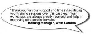 Quote from care home manager